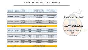 Torneo 3x3 finales.