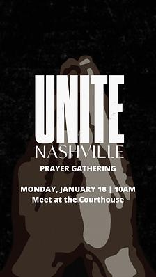 PRAYER GATHERING MONDAY, JANUARY 18 _ 10