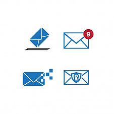 conjunto-plantilla-diseno-grafico-correo