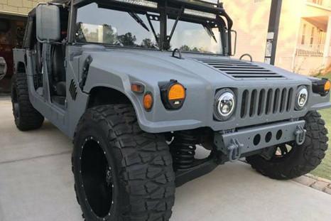 Dark Gray Humvee