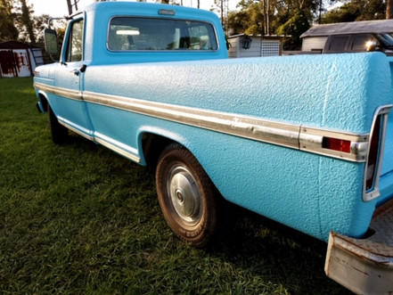Customers Blue Ford Truck Photo