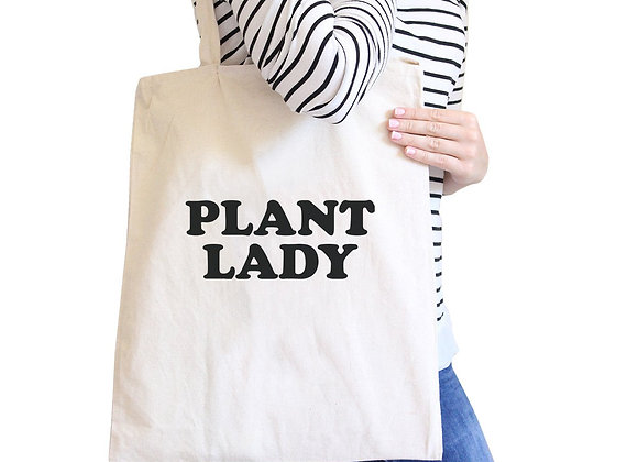 Plant Lady Natural Canvas Tote Bag