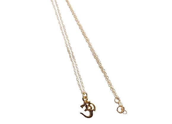 Om Stamp 14k Gold Filled Charm Necklace