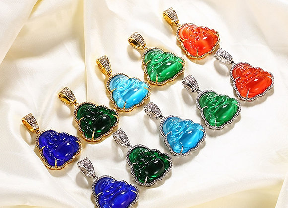 Buddha Pendant Tennis Chain Necklace