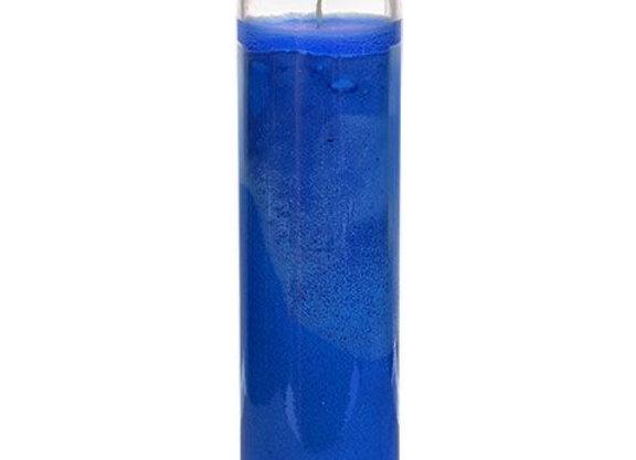 Original Blue Glass Candle