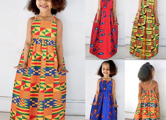 African Dashiki  Princess Dress