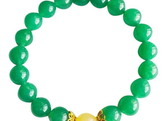 Aventurine & Yellow Calcite Vermeil Bracelet