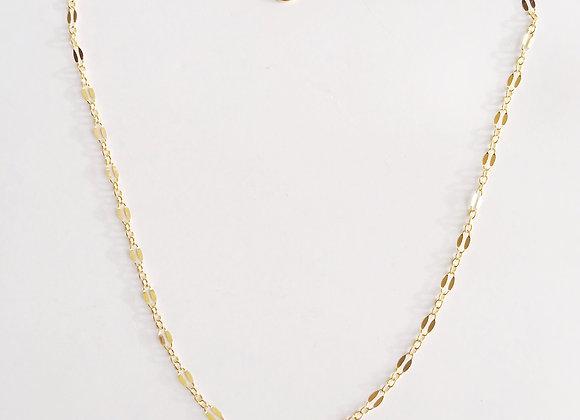 14k Gold Filled Minimalist Parallel Choker Necklace