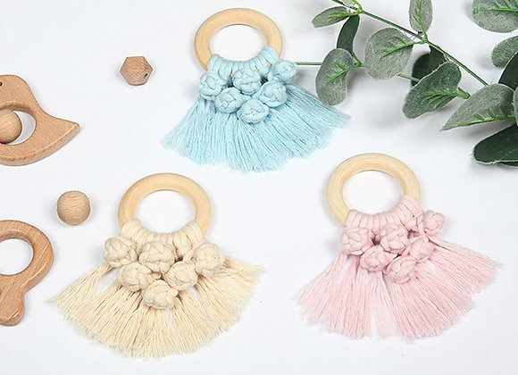 Vintage Baby Cloud Shape Wooden Teether Eco-Friendly