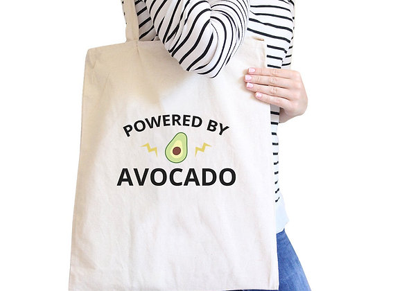 Powered by Avocado Natural Canvas Tote