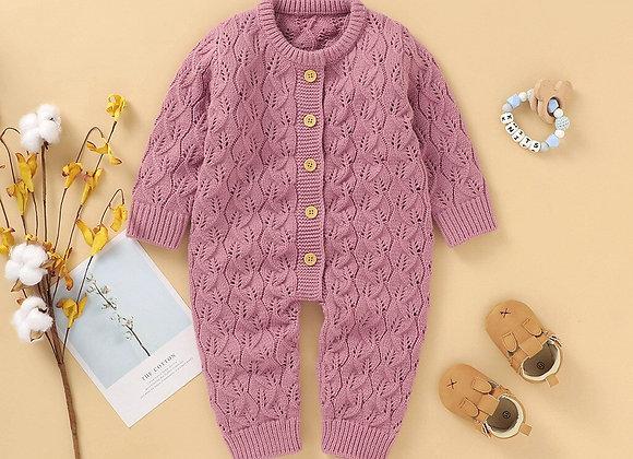 Newborn Baby Winter Warm Knit Sweater Romper