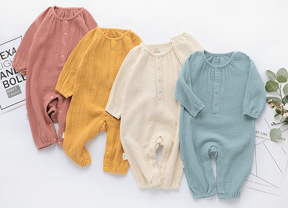 Organic Cotton  Long Sleeve Infant Jumpsuit