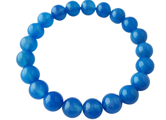8mm Blue Agate Bracelet