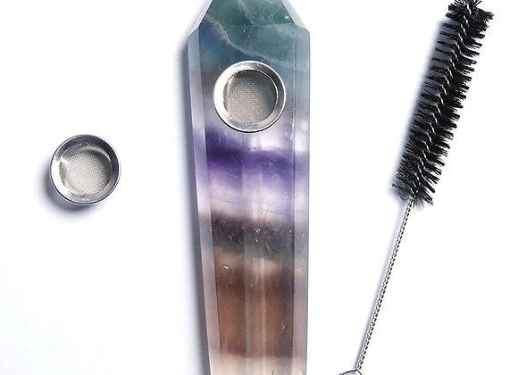 Fluorite Crystal Pipe Smoke Pipe