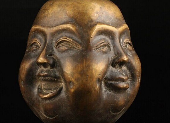 Spiritual Four Face Buddha Statue Head