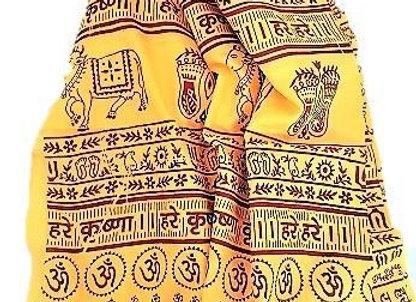 Hare Krishna OM Meditation Yoga Prayer Shawl