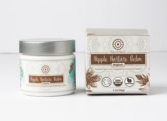 Organic Nipple Nurture Balm (2 Oz) - Breastfeeding Cream - USDA Organic