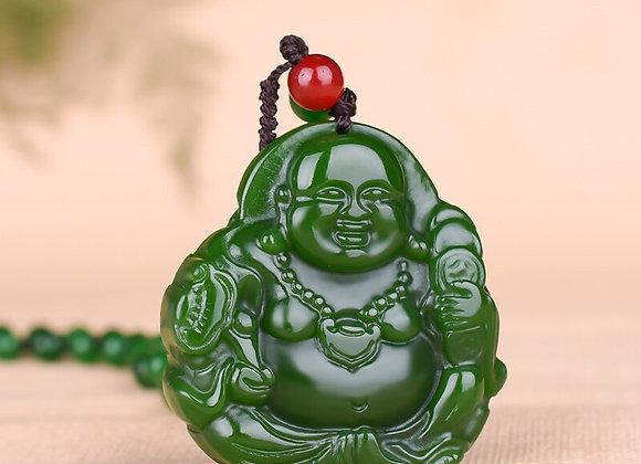 Buddha Jade Pendant Necklace