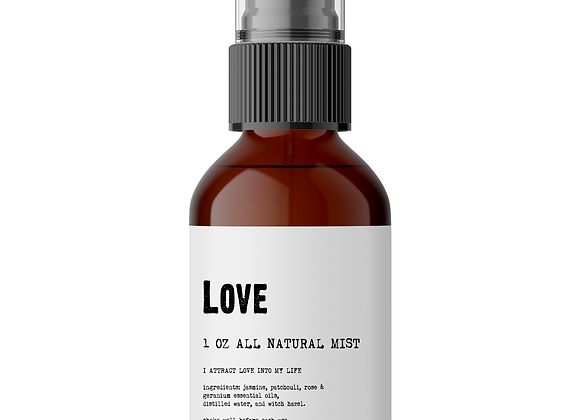 Love - Meditation/Body Mist - Made With All Natural Ingredients