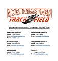 2021 Northeastern Track and Field Coachi