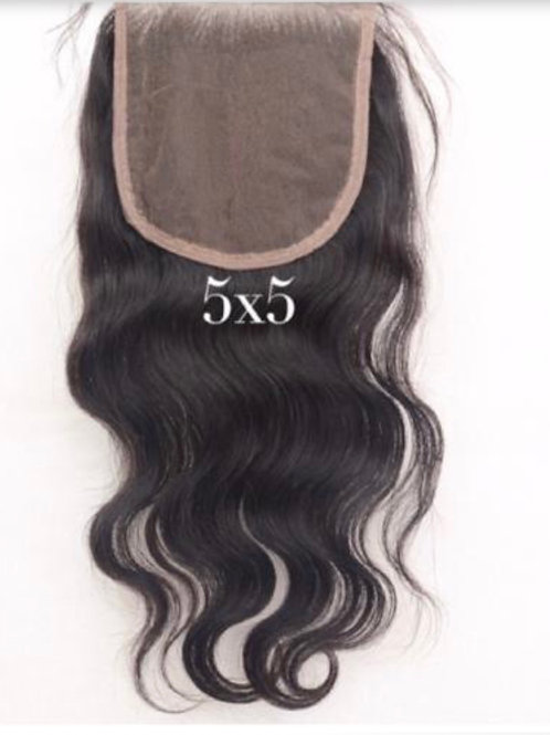 5x5 Closures *RAW SEA STRAIGHT 18 ,  WAVY 14, BURMESE ALL LENGTHS SOLD OUT