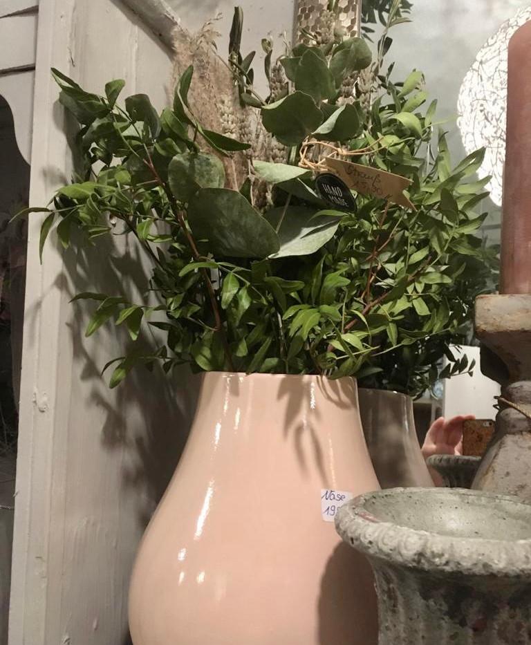Rosa Vase Eukalyptus