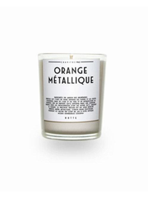 Bougie Orange Métallique