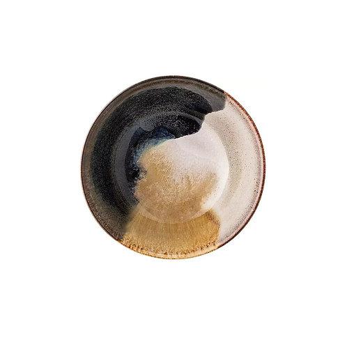 Assiette creuse céramique tachetée