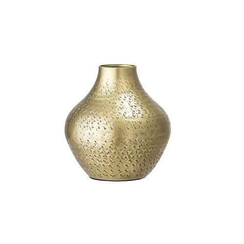 Vase en laiton et acier