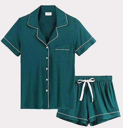 Teal Green Shorts set