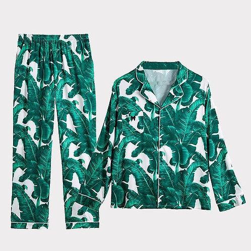 Tropical Green Pyjama Set