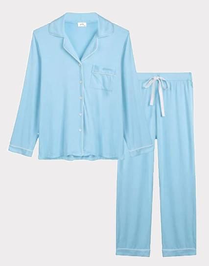 Baby Blue  Bamboo Viscose Cotton Pajama