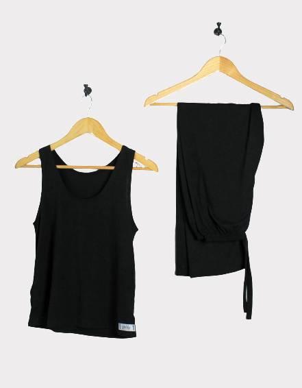 Cotton tank top and pants set