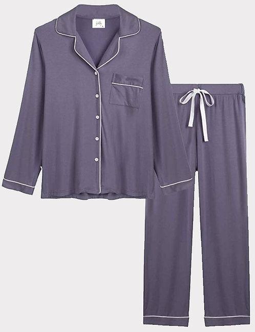 Charcoal Gray Bamboo Viscose Cotton Pajama Set