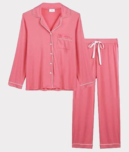 Salmon  Bamboo Viscose Cotton Pajama