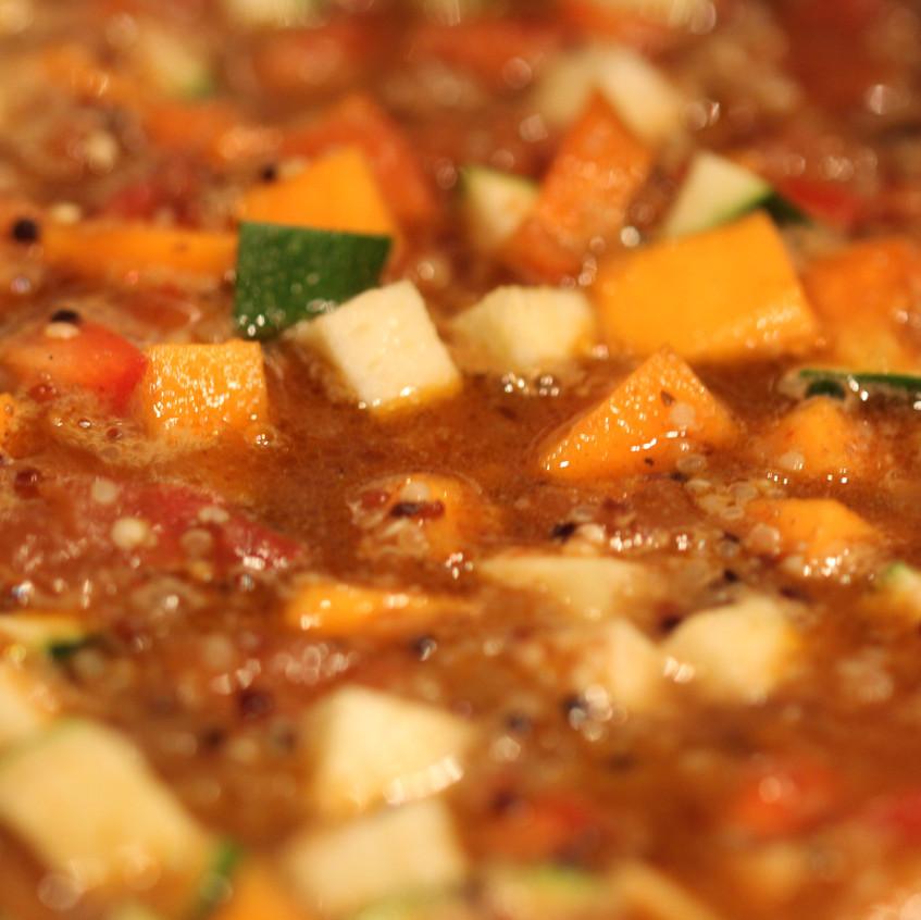 Spiced vegetables for pilaf