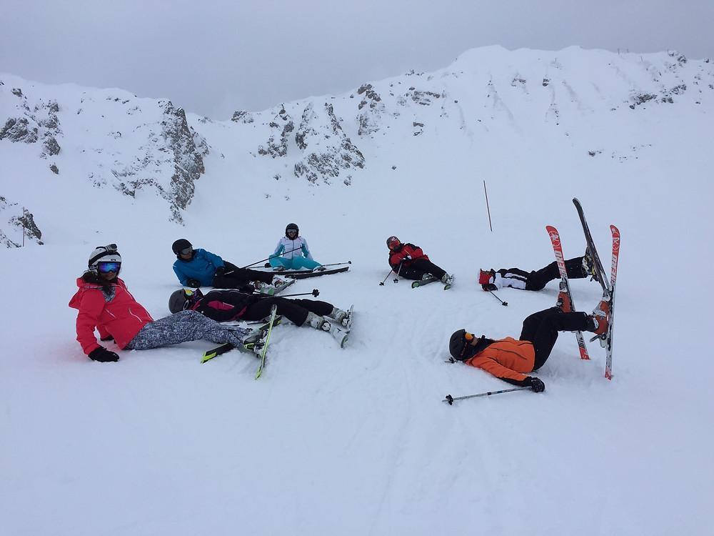 My family taking a ski break! Oh I wish we had a bed!!