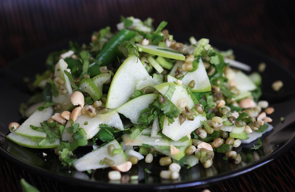 Crisp, helathy, yummy mung bean salad