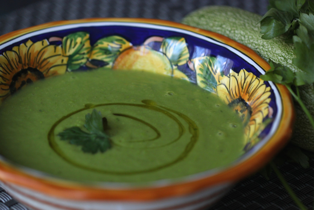 Brussel sprouts, zucchini soup