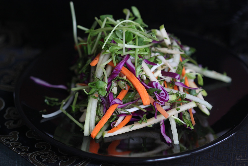 Vibrant colors in the Zen Salad