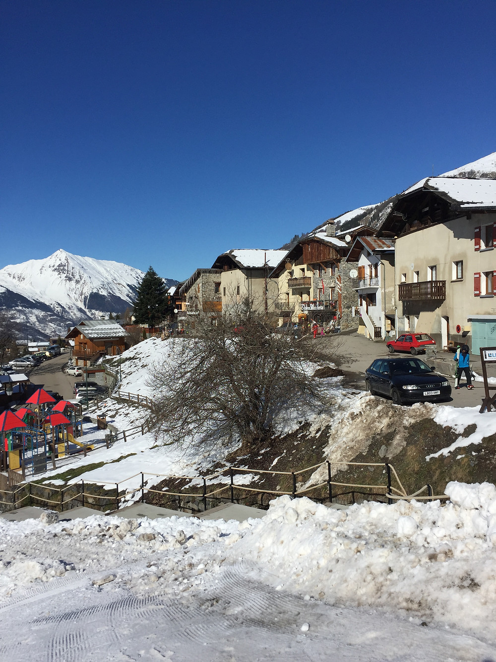 A small French village where we stopped for lunch at a cozy local restaurant