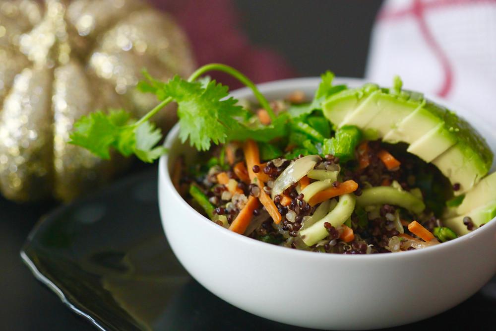Sautéd vegetable and quinoa salad