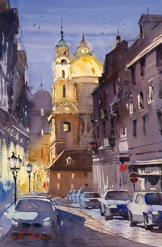 Evening Shadows Of Prague