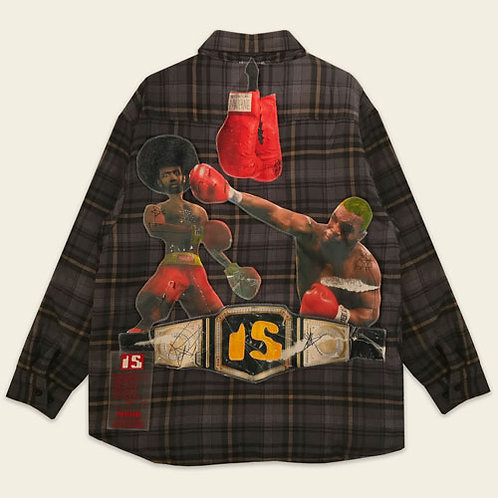 FIGHT NIGHT QUILTED SHIRT JACKET