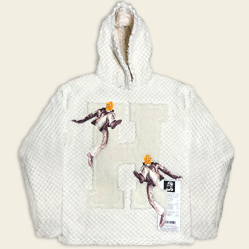 INVISIBLE MADMAN GATED SHERPA HOODIE