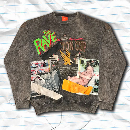XL-ACID WASH WINSTON CUP SWEATER H10