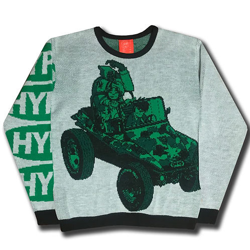 GORILLAS IN A COUPE KNIT SWEATER