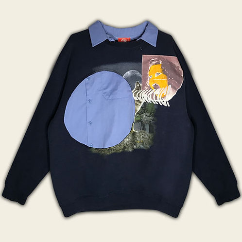 LUNATIC GIRL RECONSTRUCTED SWEATSHIRT