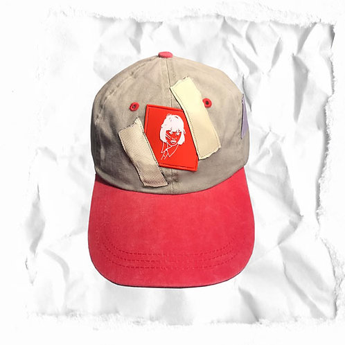 GIRLFACE TAPE HAT RED