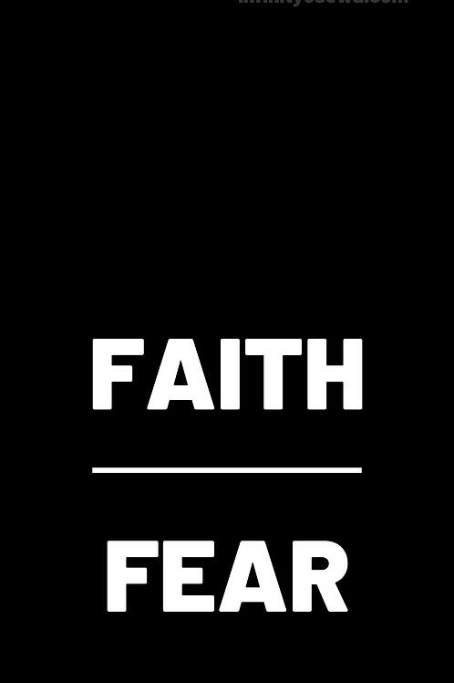 """FAITH Over Fear"" Phone Wallpaper"